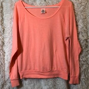 🎃/VS PINK Neon Orange Raglan Tee